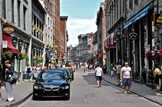 The cobblestone streets of charming Old Montreal