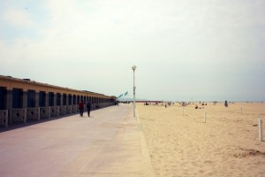 The Deauville walkway next to the beach