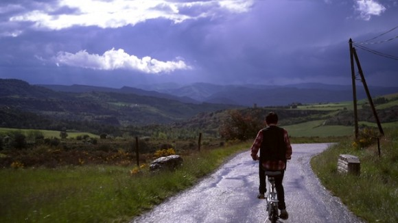 Ride, the little magician who years to become famous,  rides around the village of Bugarach