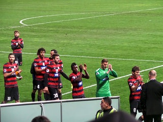 Wanderers players continue to win over admirers  Photo: derivativeofcourse