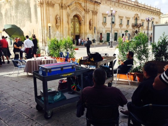 What a thrill for a Montalbano fan to stumble upon a shoot of the globally popular detective series