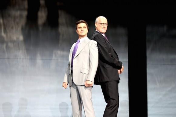 Guy Edmonds and James Cromwell play Rupert Murdoch Photo: Marine Raynard