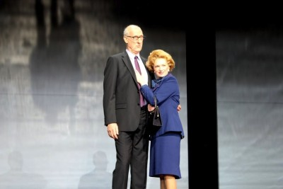 Rupert (James Cromwell) and the Iron Lady Margaret Thatcher (Jane Turner). Photo: Marine Raynard