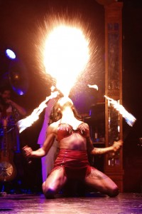 Heather Holliday enveloped in flames Photo: Prudence Upton