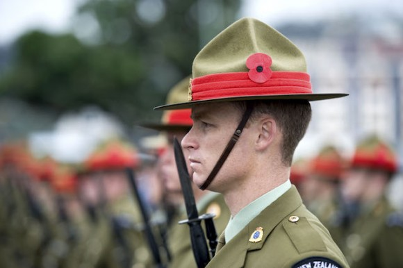 ANZAC Day service at the National War Memorial   Photo: Flickr NZ Defence Force