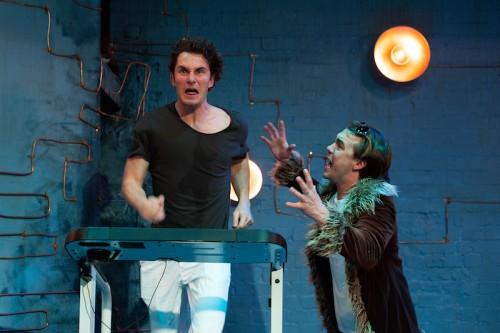 "Sean Hawkins and Ben O'Toole in Brendan Cowell""s Men Photo: Marnya Rothe"