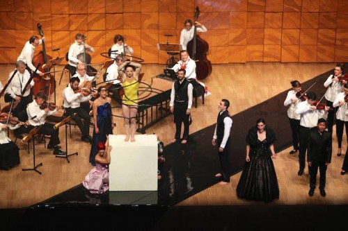 French Baroque with Circa and Claire Lefilliâtre. Freyja Edney performing with hoops at Melbourne Recital Centre