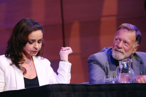 Actor Jack Thompson and columnist Rita Panahi  Photo: Barbara McGrady