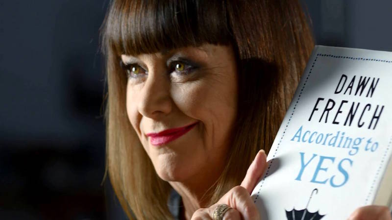 Actress turned writer Dawn French with her new book, According to Yes