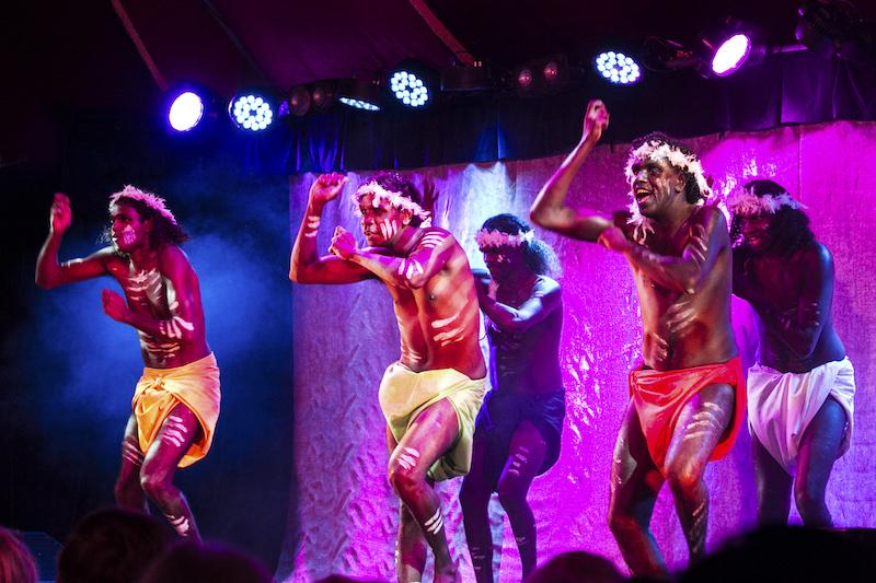 Djuki Mala perform during the 2016 Sydney Festival   Photo:  Jamie Williams