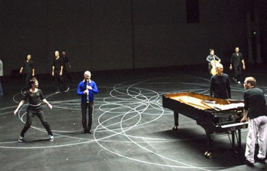 A scene from Vortex Temporum performed during the 2016 Sydney Festival  Photo: Jamie Williams