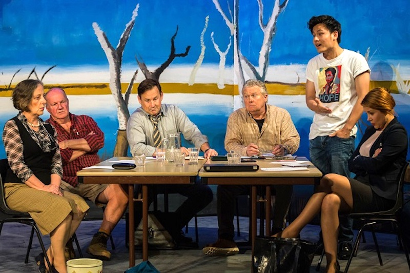 Australia Day cast Alice Livingstone, Les Asmussen, Martin Portus, Peter Eyers, Lap Nguyen, Amelia Robertson-Cuninghame Photo © Chris Lundie